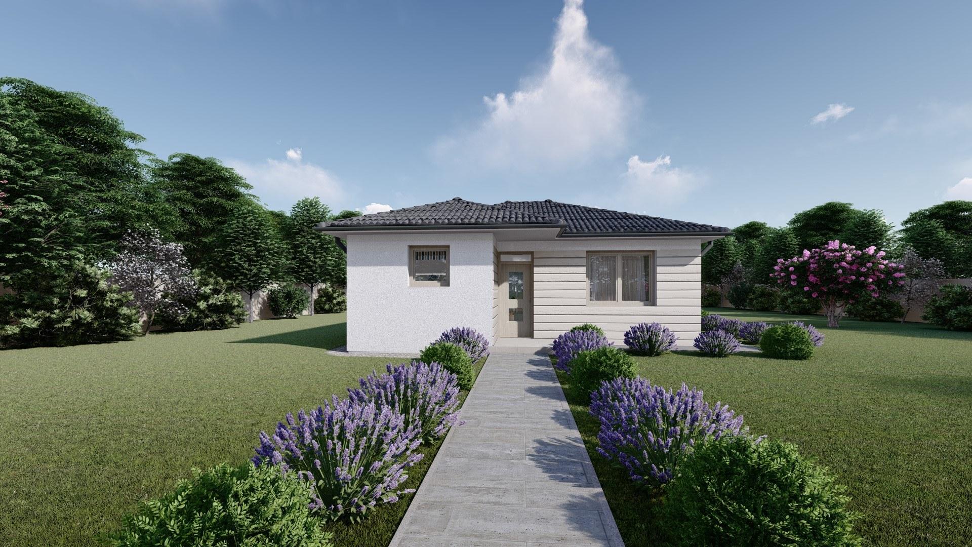 Projekt domu LEA 1 vizualizácia vchodu