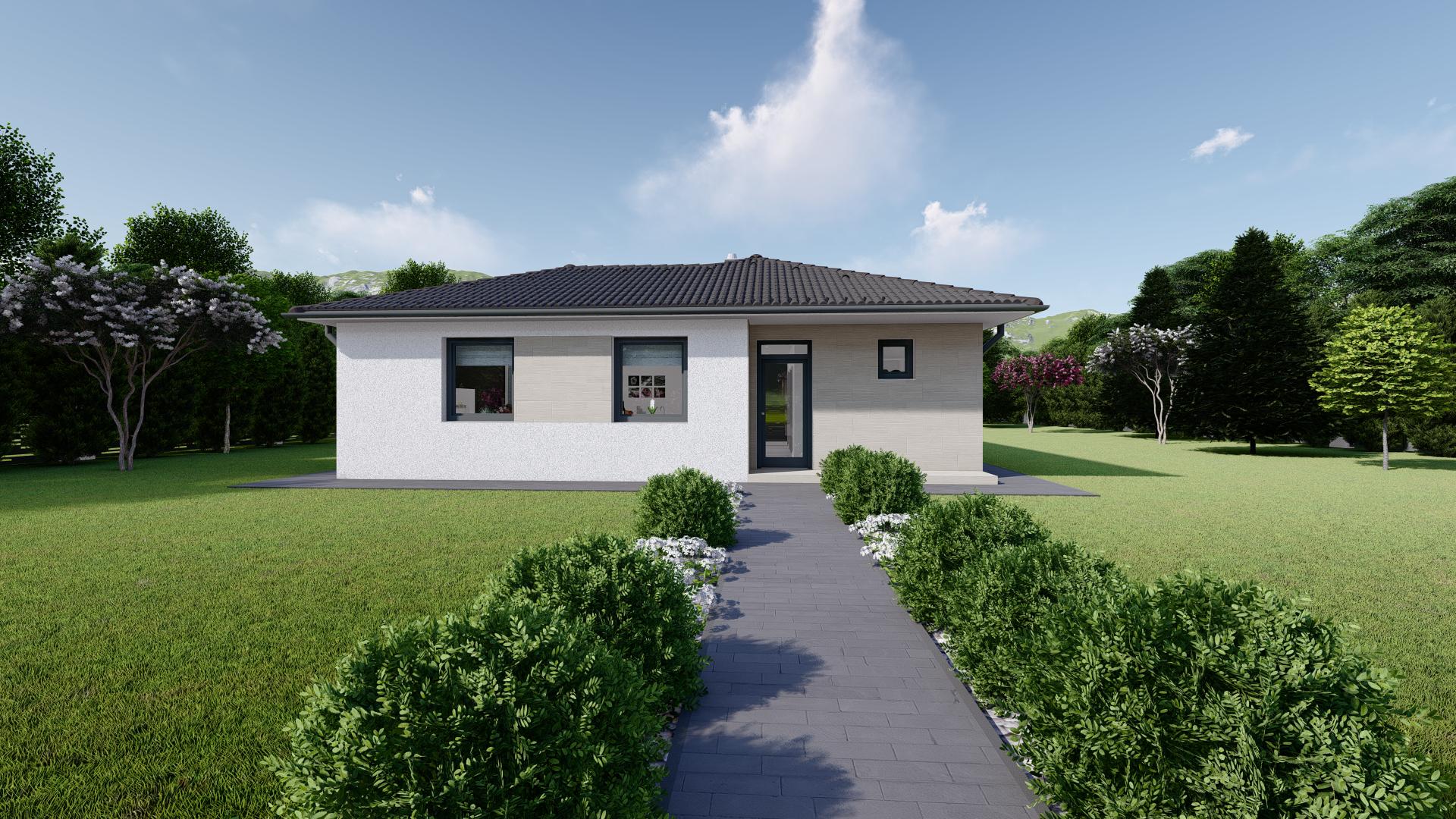 Projekt domu LEA 5 vizualizácia vchodu