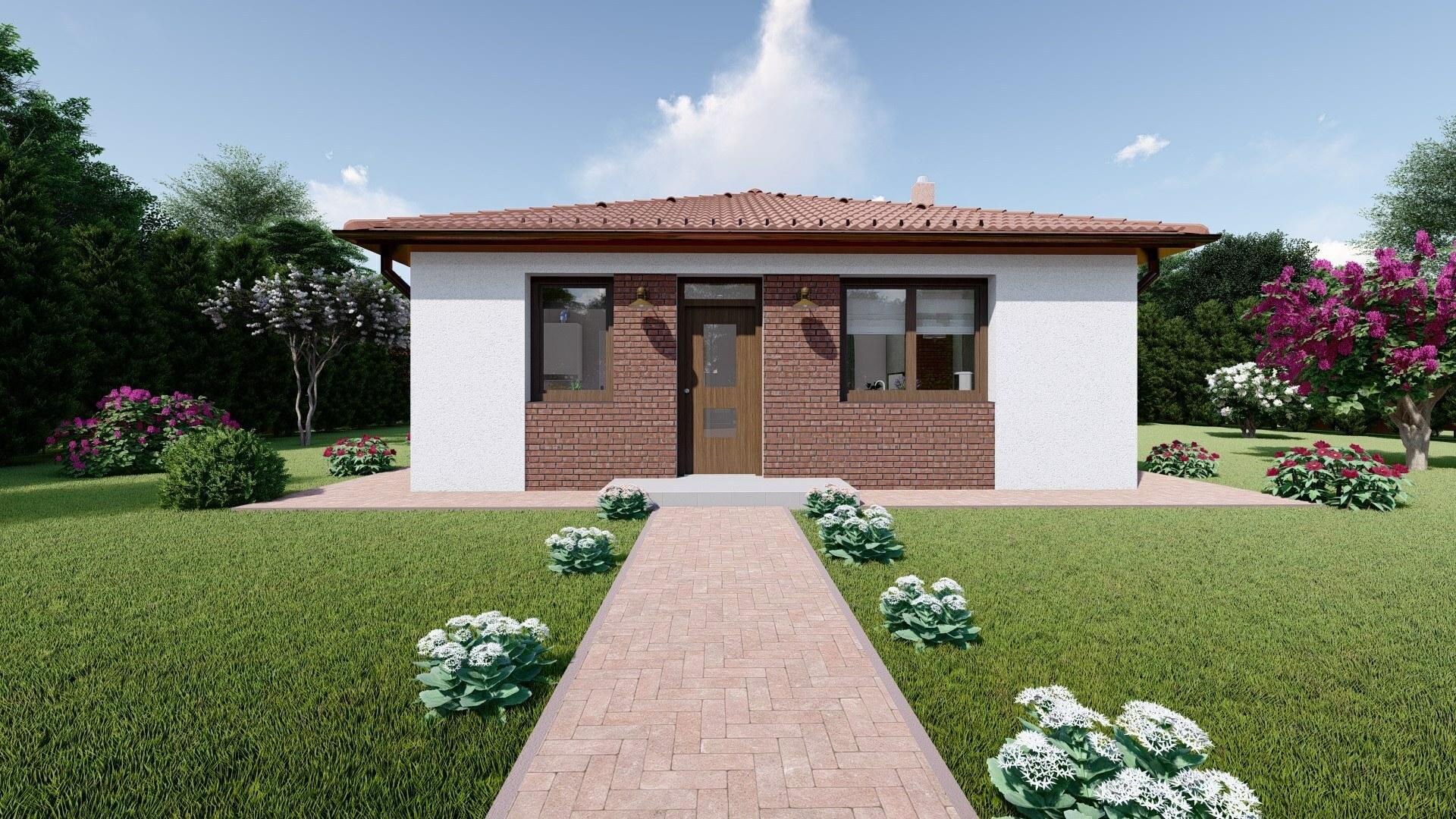 Projekt bungalov LEA 7 vizualizácia vchodu