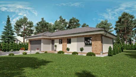 4 izbový bungalov s dvojgarážou LISA 2 - Bungalov LISA 4 | Familyhouse