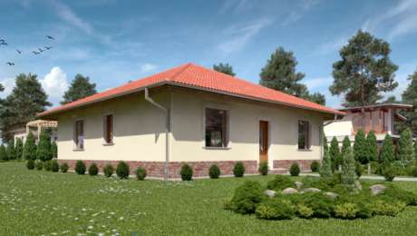 Projekt domu - Bungalov Luna 1 vchod do domu - Bungalov LUNA 9 | Familyhouse