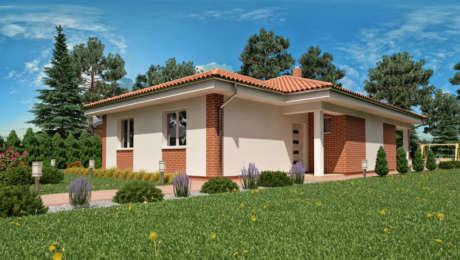 Dom na úzky pozemok- Bungalov LUNA 10 - Bungalov LUNA 3 | Familyhouse