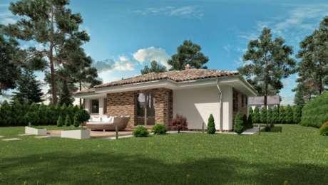 Projekt bungalovu s terasou LUNA 11 - Bungalov LUNA 12 | Familyhouse