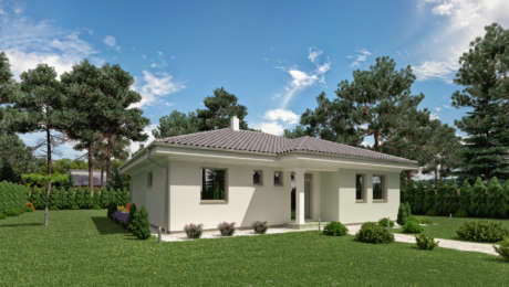 Projekt domu - 4 izbový bungalov LUNA 14 - Bungalov LUNA 9 | Familyhouse