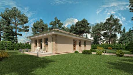 Murovaný dom na úzky pozemok LUNA 15 - Bungalov LUNA 12 | Familyhouse