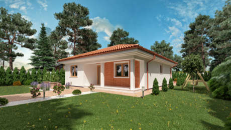 4 izbový bungalov LUNA 18 - vchod do domu - Bungalov LUNA 9 | Familyhouse