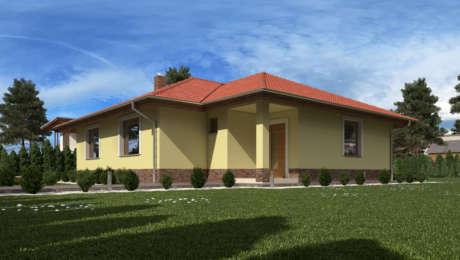 Projekty domov na kľúč - Bungalov LUNA 2 vchod do domu - Bungalov LUNA 9 | Familyhouse