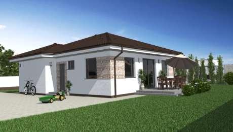 Projekt domu LUNA 20 - vchod do bungalovu - Bungalov LUNA 10 | Familyhouse