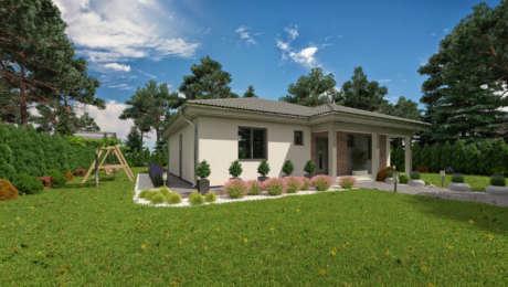 Projekt domu LUNA21 - vchod do domu - Bungalov LUNA 24 | Familyhouse