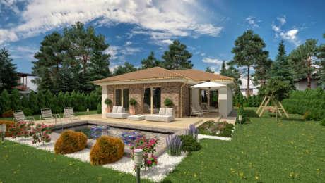 Projekt nízkoenergetického bungalovu LUNA 22 - Bungalov LUNA 24 | Familyhouse