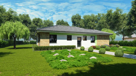 Dom na úzky pozemok - Bungalov LUNA 23 - Bungalov LUNA 24 | Familyhouse