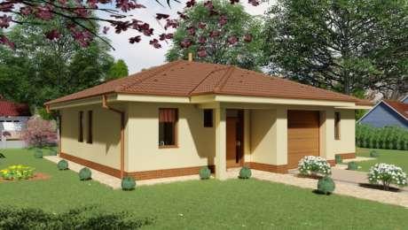 Projekt bungalovu - 4 izbový rodinný dom s garážou LUNA 3 - Bungalov LUNA 10 | Familyhouse