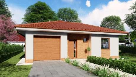 Projekt domu s garážou - Bungalov LUNA 5 - Bungalov LUNA 10 | Familyhouse