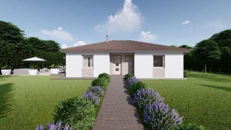 Projekt domu LUNA 7 4 izbový bungalov vchod - Bungalov LUNA 24 | Familyhouse