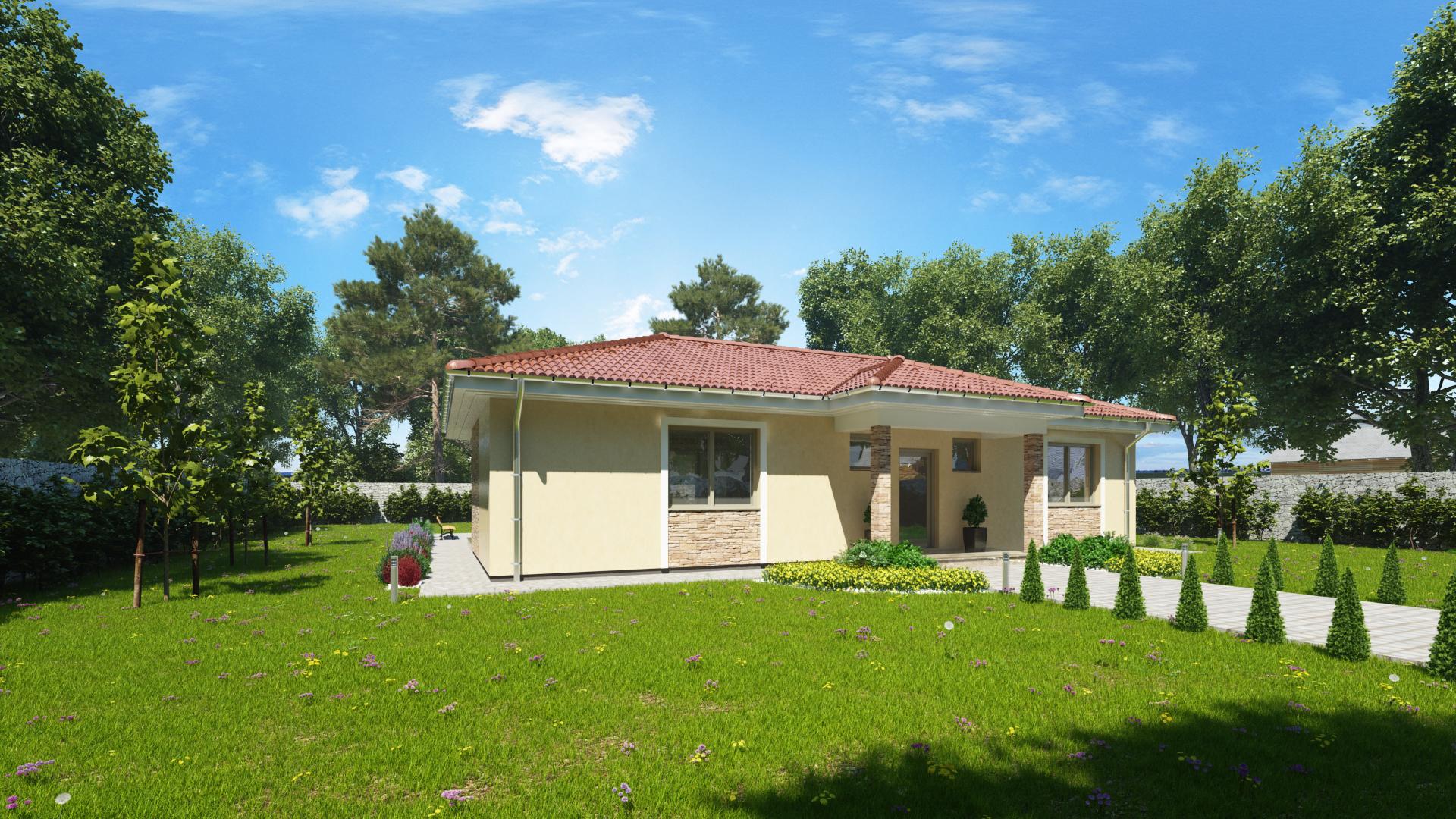Projekt bungalovu MAJA 1 - vchod do domu