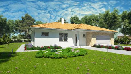 5 izbový nízkoenergetický dom NATALY 2 - Bungalov NATALY 4 | Familyhouse