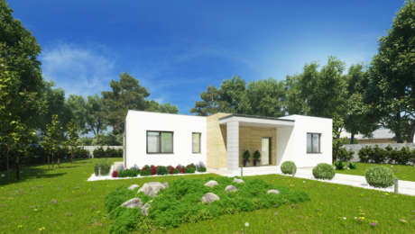 Projekt moderného bungalovu s plochou strechou NIA 1 - Bungalov NIA 2 | Familyhouse