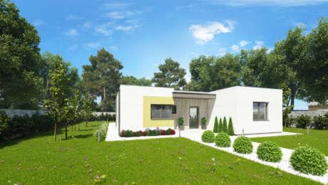 Projekt moderného domu NIA 2 - Bungalov NIA 3 | Familyhouse