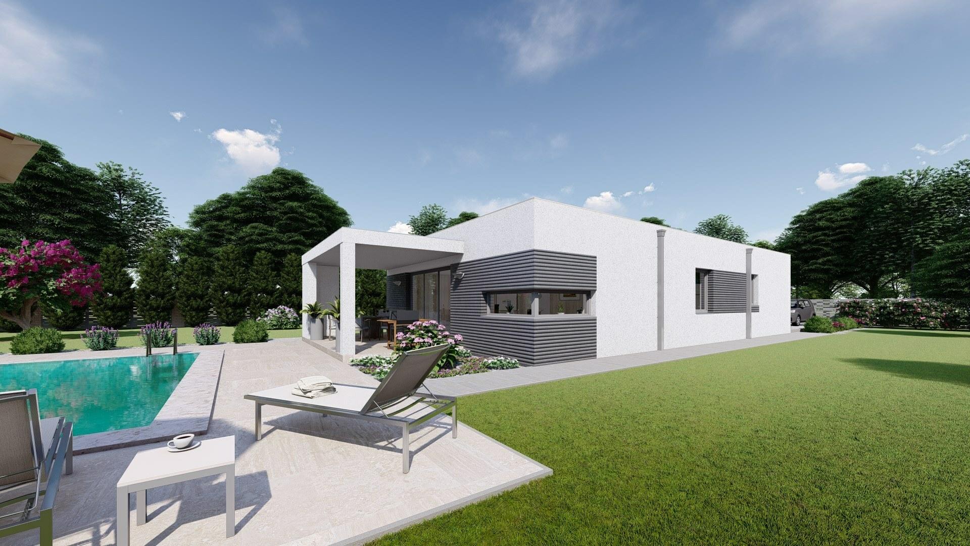 Projekt domu NIA 4 vizualizácia zadnej bočnej strany2