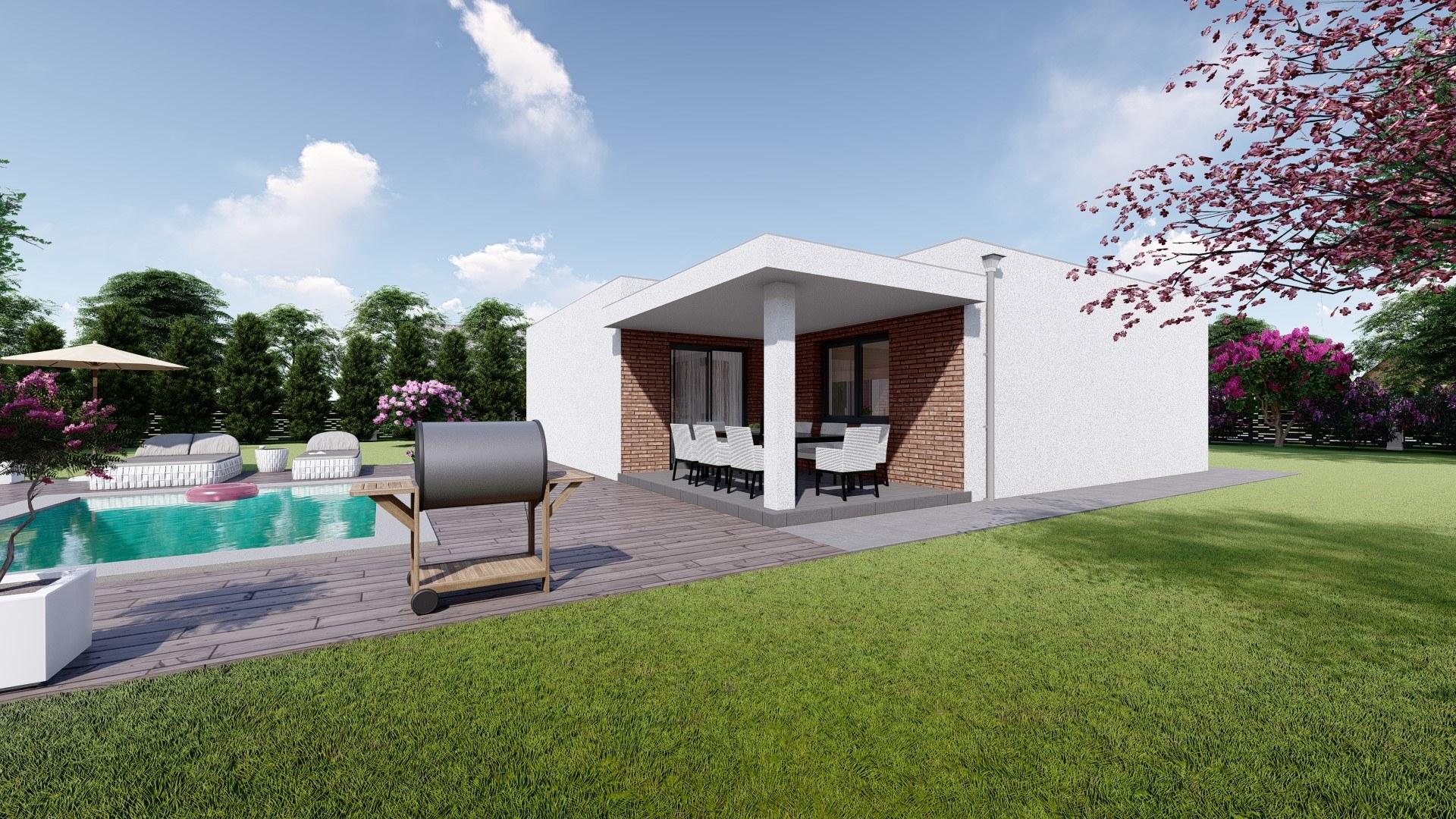 Projekt domu SIMI 1 vizualizácia zadnej bočnej strany 2