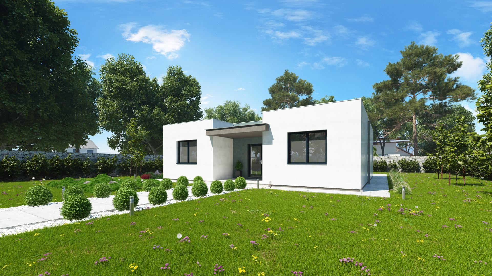 Moderný dom SIMI 1 - vchod do domu