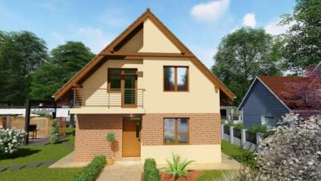 Podkrovný poschodový dom IRIS 1 - Podkrovný dom STELLA 1   Familyhouse