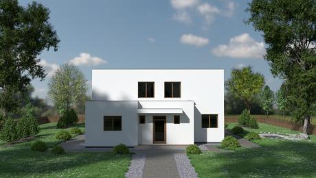 Projekt poschodového domu LÉNA 2 vchod - Poschodový dom LÉNA 1 | Familyhouse