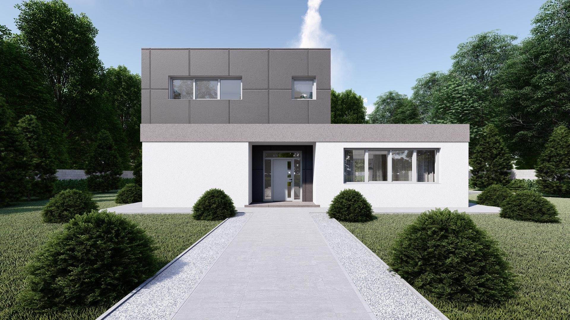 Projekt Domu ELIZABETH 2 vizualizácia vchodu