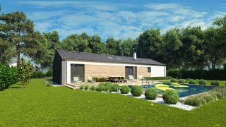 Projekt domu na úzky dlhý pozemok
