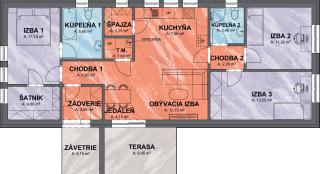 Pôdorys domu na úzky pozemok SIMI 3