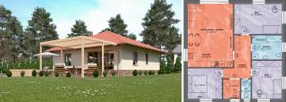 Projekt domu LUNA 1 s terasou