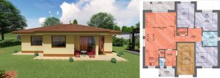 Projekt bungalovu LUNA 3 aj s pôdorysom
