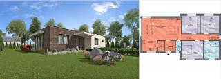 Projekt bungalovu ANGI 1 s pôdorysom