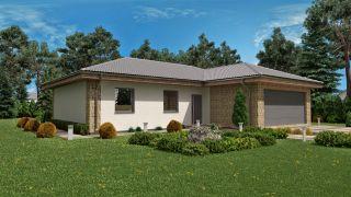 Projekt bungalov s garážou LISA 1
