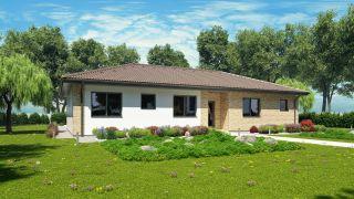 Projekt bungalovu na úzky pozemok EMMA 8